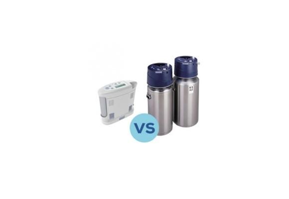 Quel est le mieux? Le concentrateur d'oxygène ou les bouteilles?
